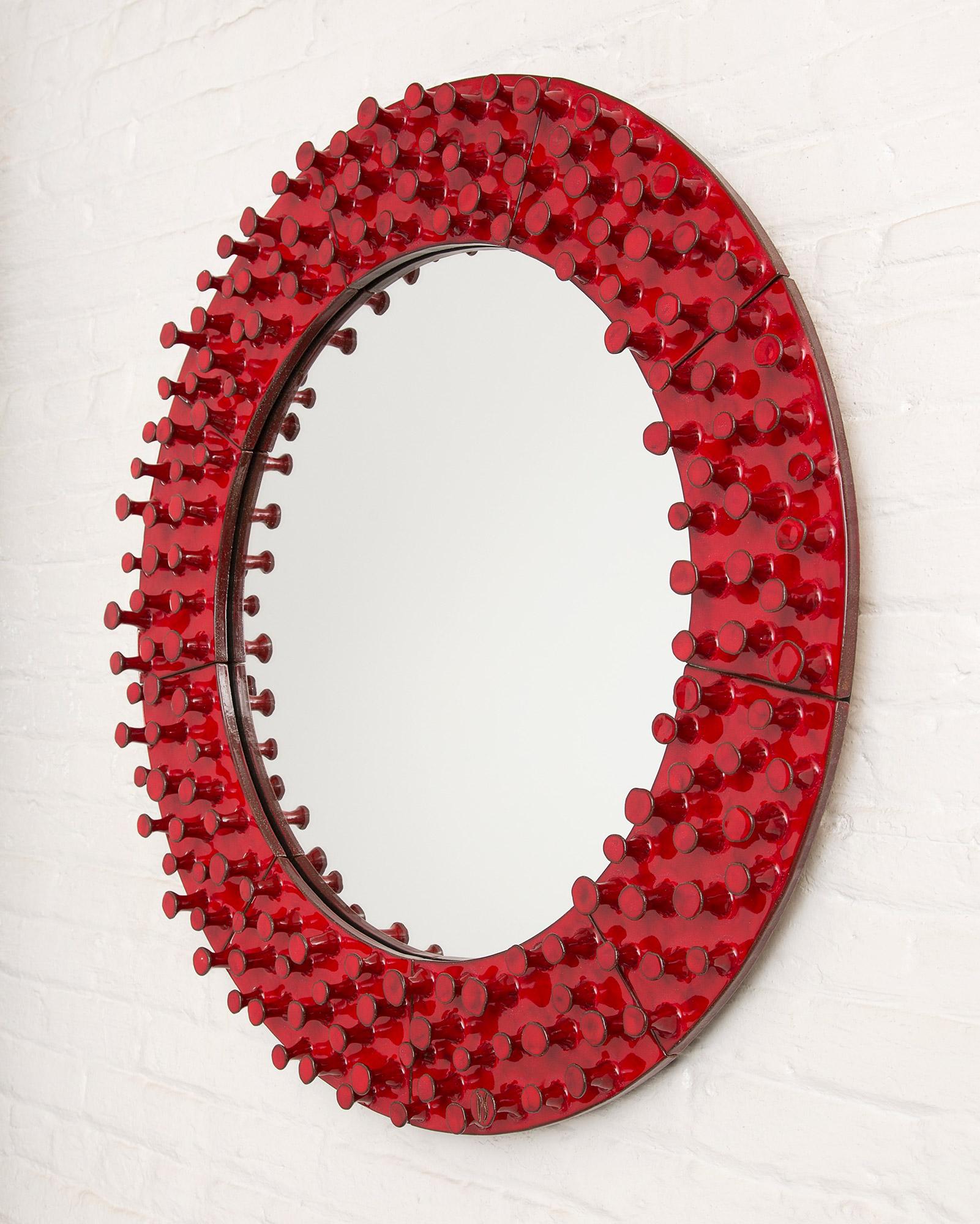 The Round Lustro Mirror by Pamela Sunday