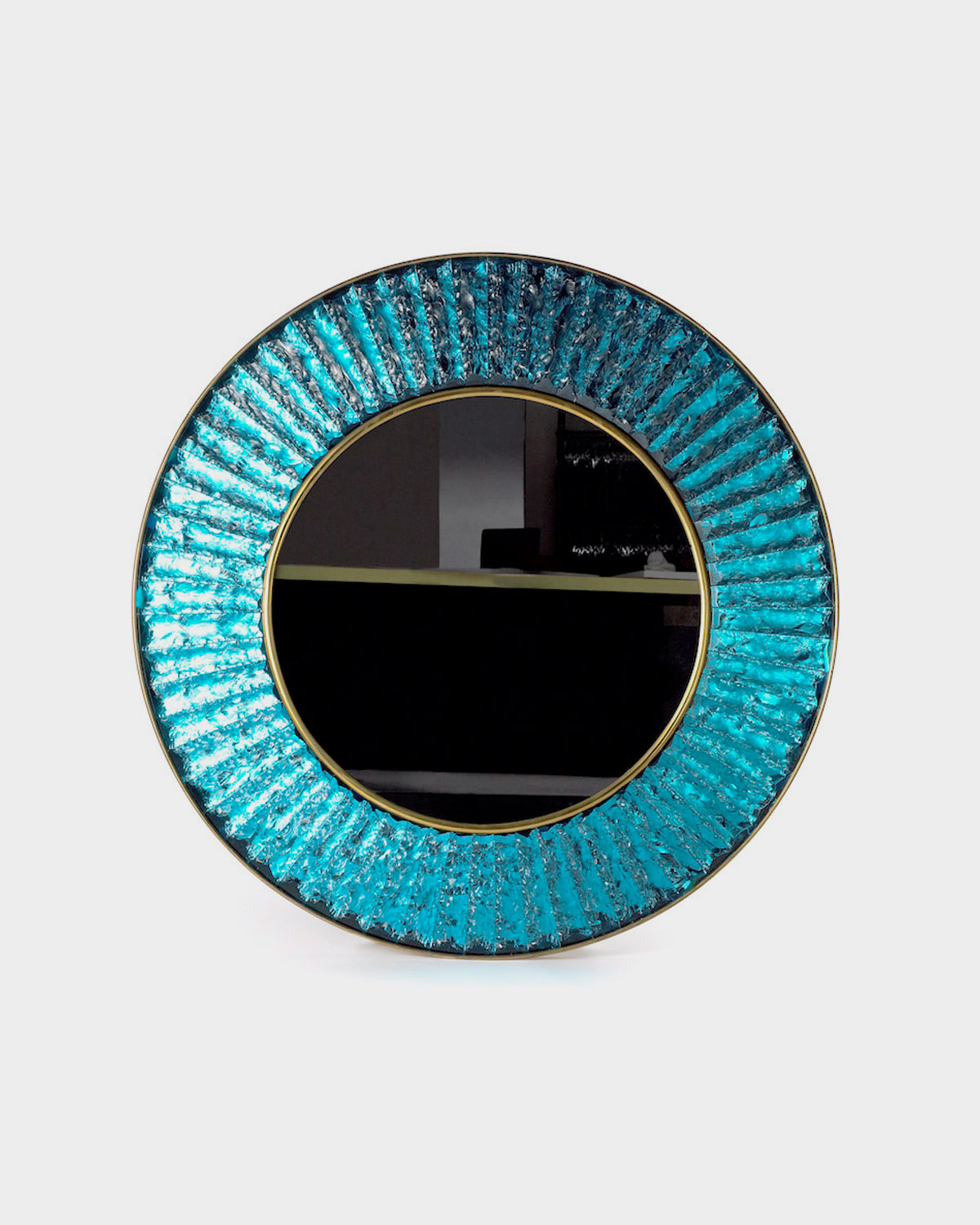 The Large Studio Mirror in Blue by Ghiro
