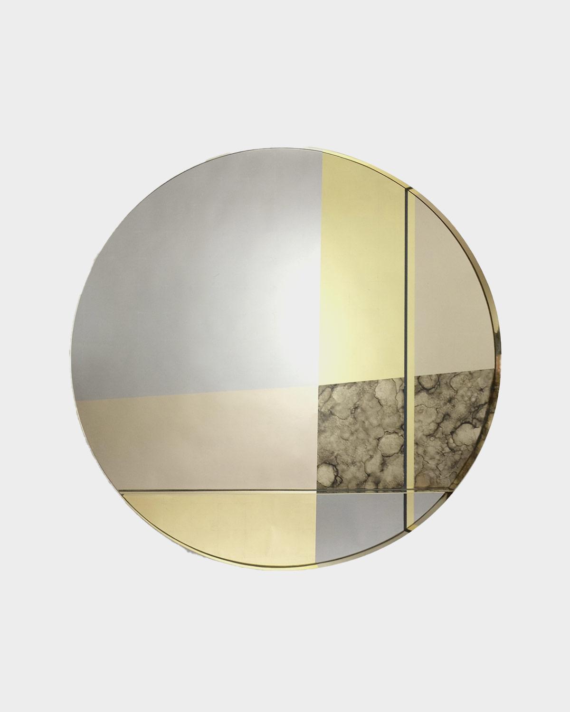 XL Orbit Braque Wall Mirror by Emma Peascod