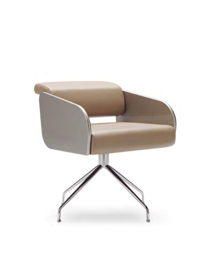 Avec Two Swivel Arm Dining / Occasional Chair by José Martínez-Medina for JMM