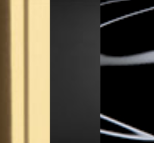 Brass / Textured and Glossy Black